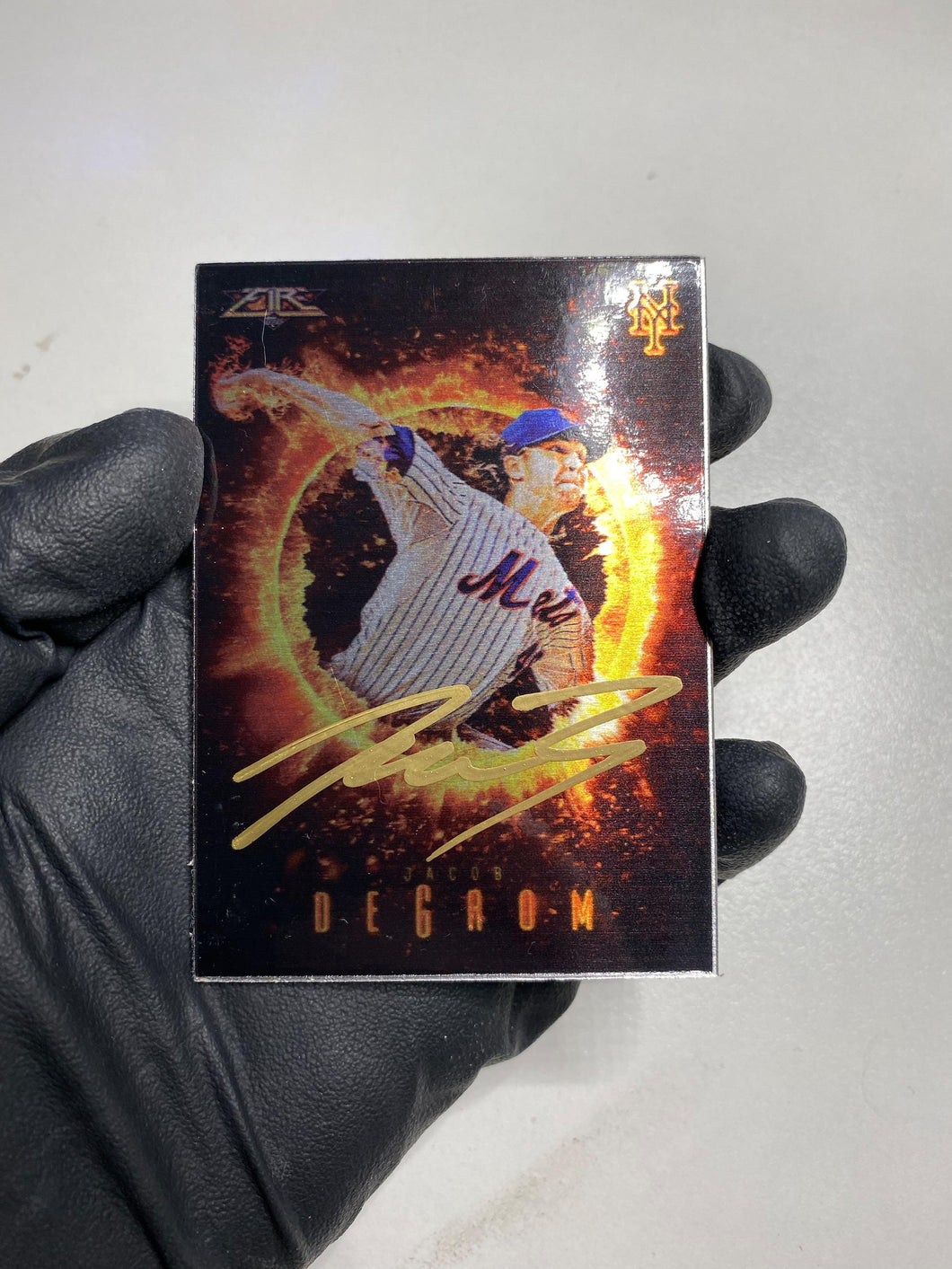 Jacob DeGrom - 1/1 TYSON BECK X TOPPS AUTOGRAPHED 2015 FIRE METAL CARD 🔥