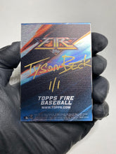 Load image into Gallery viewer, Nolan Ryan - 1/1 TYSON BECK X TOPPS AUTOGRAPHED 2015 FIRE METAL CARD 🔥