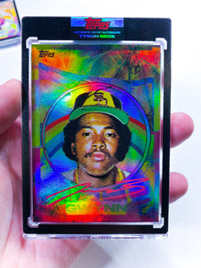 🌈 RAINBOW FOIL - Tony Gwynn by Tyson Beck - RAINBOW RED - LIMITED TO 1 🌈
