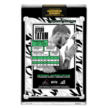 Load image into Gallery viewer, PART II OF V - OFFICIAL JAYSON TATUM - NEON UV HAND EMBELLISHED AUTOGRAPHED CARD - LIMITED TO 15