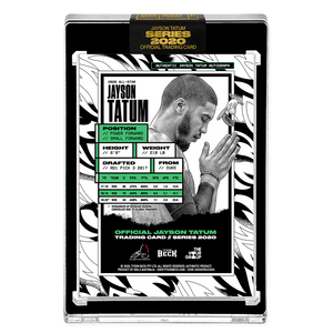 PART II OF V - OFFICIAL JAYSON TATUM - NEON UV HAND EMBELLISHED AUTOGRAPHED CARD - LIMITED TO 15