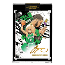 Load image into Gallery viewer, PART II OF V - OFFICIAL JAYSON TATUM - GOLD AUTOGRAPHED CARD - LIMITED TO 10