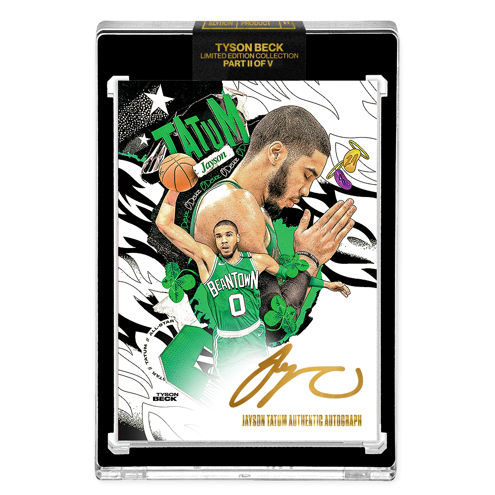 PART II OF V - OFFICIAL JAYSON TATUM - GOLD AUTOGRAPHED CARD - LIMITED TO 10