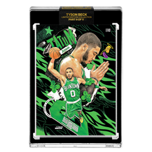 Load image into Gallery viewer, PART II OF V - OFFICIAL JAYSON TATUM X TYSON BECK CARD - METALLIC GREEN PARALLEL - LIMITED TO 149