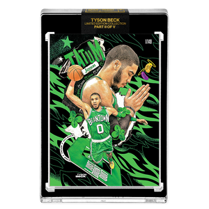 PART II OF V - OFFICIAL JAYSON TATUM X TYSON BECK CARD - METALLIC GREEN PARALLEL - LIMITED TO 149