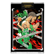 Load image into Gallery viewer, PART II OF V - OFFICIAL JAYSON TATUM X TYSON BECK CARD - METALLIC RED AP VARIATION // ST. LOUIS - LIMITED TO 22