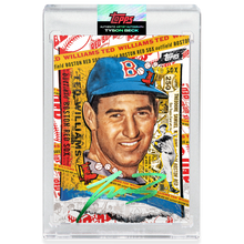 Load image into Gallery viewer, Ted Williams by Tyson Beck - EMERALD AUTOGRAPH - LIMITED TO 25 + Topps Collector Card