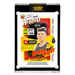 PART IV OF V - OFFICIAL TYLER HERRO X TYSON BECK RC BASE - ARTIST BLACK AUTOGRAPHED CARD - LIMITED TO 25