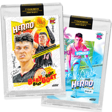 Load image into Gallery viewer, 2 PACK BUNDLE - PART IV OF V - OFFICIAL TYLER HERRO X TYSON BECK - RC BASE + RC VICE BASE CARD