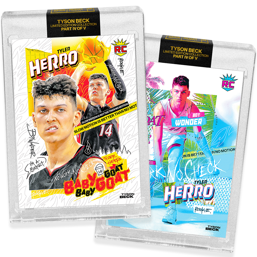 2 PACK BUNDLE - PART IV OF V - OFFICIAL TYLER HERRO X TYSON BECK - RC BASE + RC VICE BASE CARD