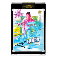 Load image into Gallery viewer, PART IV OF V - OFFICIAL TYLER HERRO RC VICE BASE - BLACK AUTOGRAPHED CARD - LIMITED TO 30