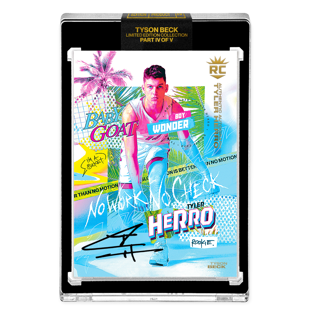 PART IV OF V - OFFICIAL TYLER HERRO RC VICE BASE - BLACK AUTOGRAPHED CARD - LIMITED TO 30
