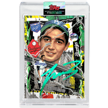 Load image into Gallery viewer, Sandy Koufax by Tyson Beck - EMERALD AUTOGRAPH - LIMITED TO 50 + Topps Collector Card