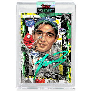Sandy Koufax by Tyson Beck - EMERALD AUTOGRAPH - LIMITED TO 50 + Topps Collector Card