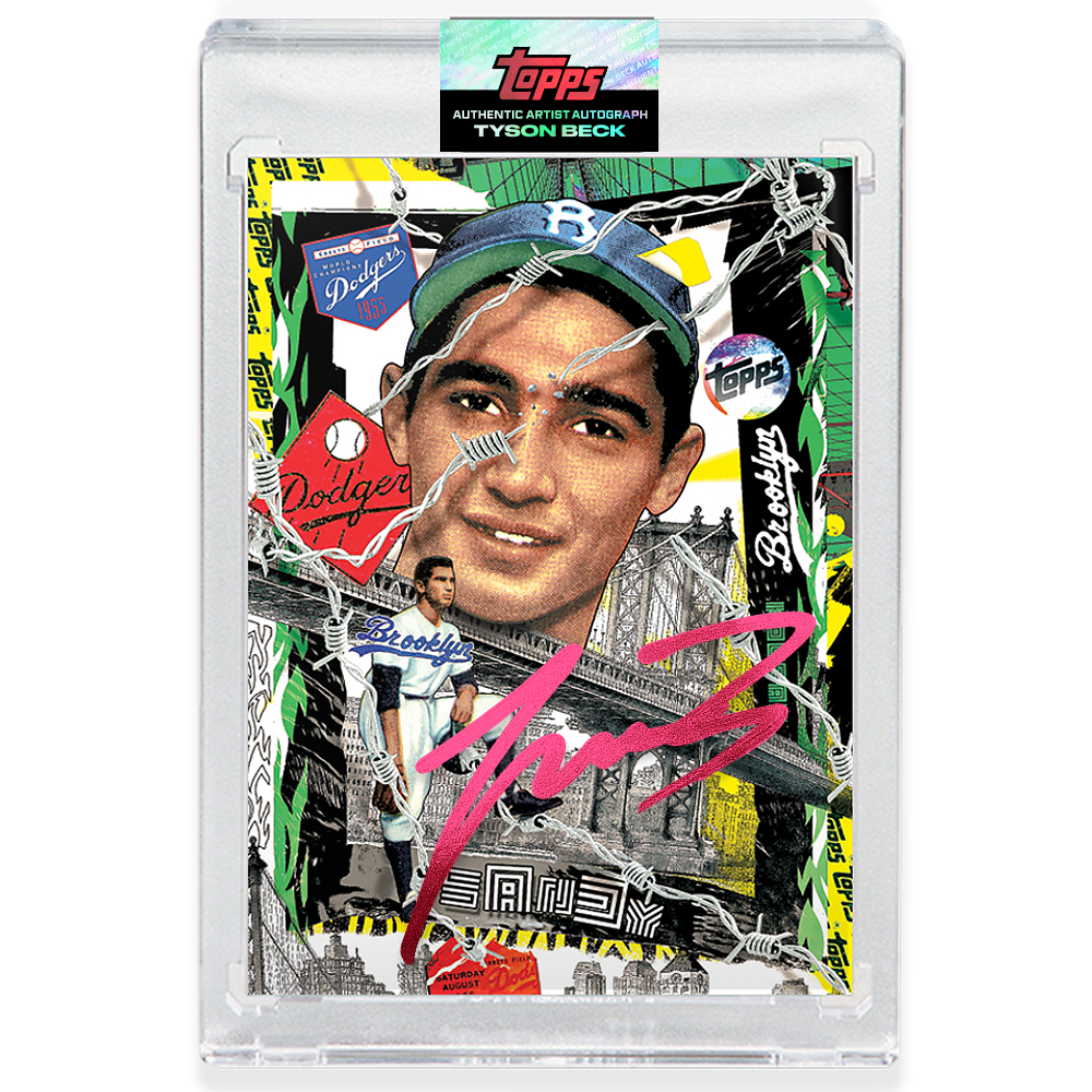 Sandy Koufax by Tyson Beck - RUBY AUTOGRAPH - LIMITED TO 25 + Topps Collector Card