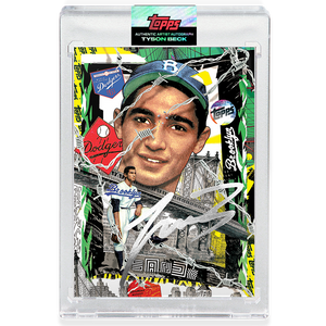 Sandy Koufax by Tyson Beck - SILVER AUTOGRAPH - LIMITED TO 75 + Topps Collector Card