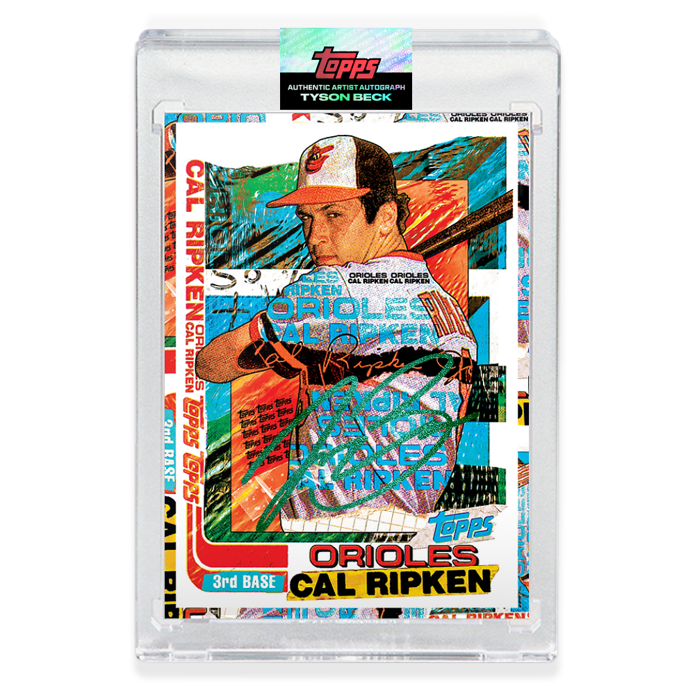 EMERALD AUTOGRAPH - Topps PROJECT 2020 Card - 1982 Cal Ripken Jr. by Tyson Beck - Limited to 30 [PRE-ORDER]