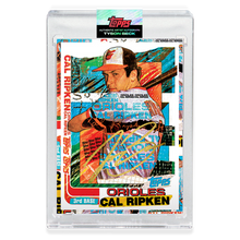 Load image into Gallery viewer, GOLD AUTOGRAPH - Topps PROJECT 2020 Card - 1982 Cal Ripken Jr. by Tyson Beck - Limited to 5 [PRE-ORDER]
