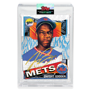 GOLD AUTOGRAPH - Topps PROJECT 2020 Card - 1985 Dwight Gooden by Tyson Beck - Limited to 4
