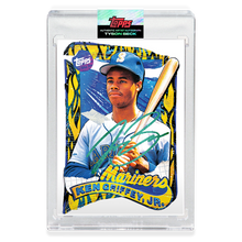 Load image into Gallery viewer, EMERALD AUTOGRAPH - Topps PROJECT 2020 Card - 1989 Ken Griffey Jr. by Tyson Beck - Limited to 10