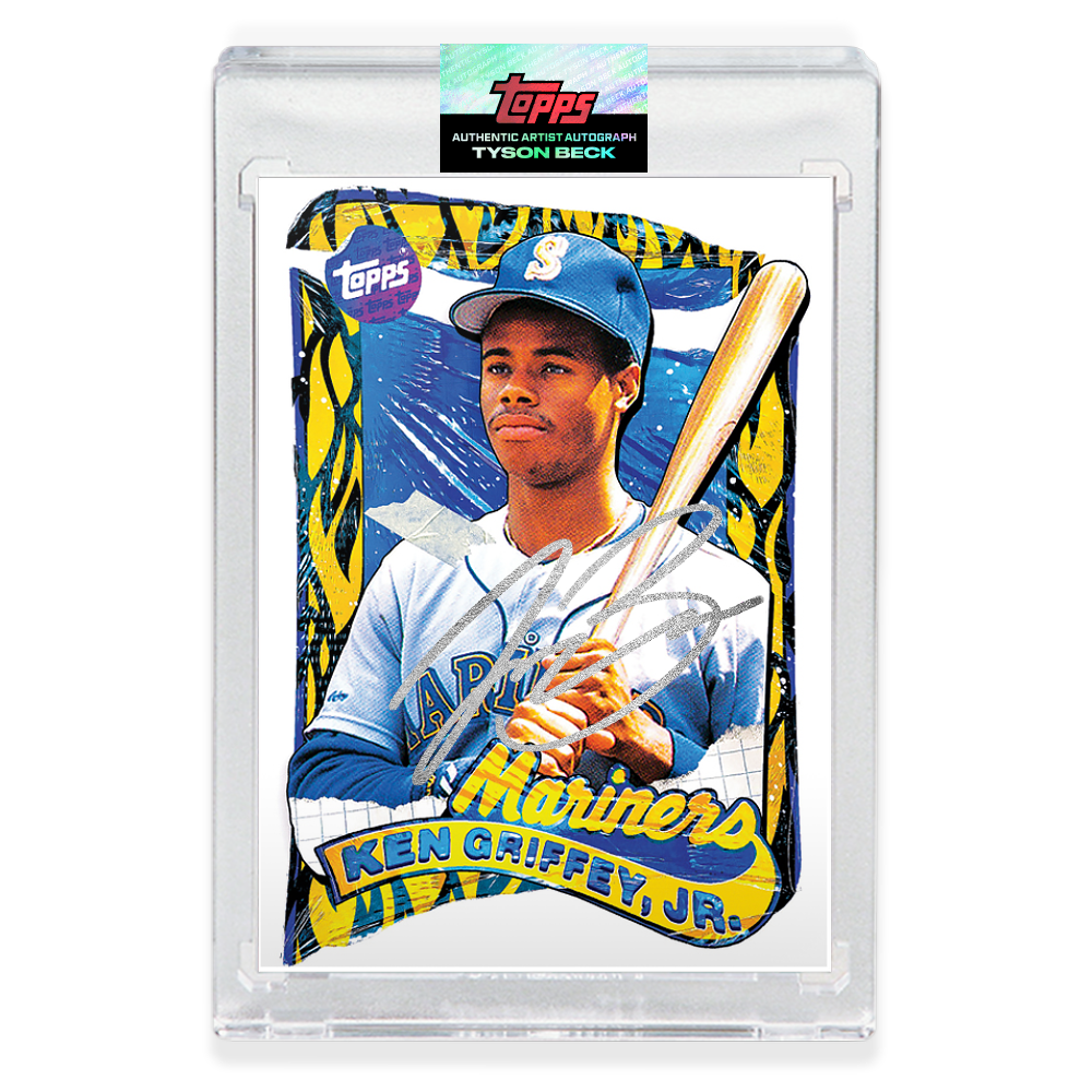 SILVER AUTOGRAPH - Topps PROJECT 2020 Card - 1989 Ken Griffey Jr. by Tyson Beck - Limited to 75