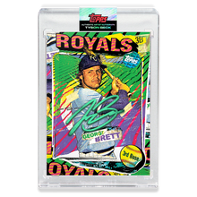 Load image into Gallery viewer, EMERALD AUTOGRAPH - Topps PROJECT 2020 Card - George Brett by Tyson Beck - LIMITED TO 40 [PRE-ORDER]