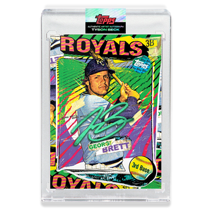 EMERALD AUTOGRAPH - Topps PROJECT 2020 Card - George Brett by Tyson Beck - LIMITED TO 40 [PRE-ORDER]