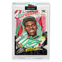 Load image into Gallery viewer, EMERALD AUTOGRAPH - Topps PROJECT 2020 Card - Bob Gibson by Tyson Beck - LIMITED TO 40 [PRE-ORDER]