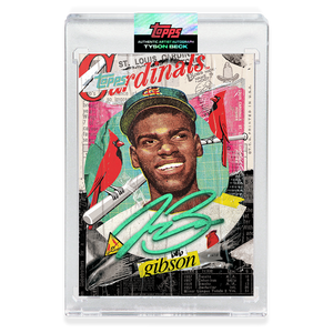 EMERALD AUTOGRAPH - Topps PROJECT 2020 Card - Bob Gibson by Tyson Beck - LIMITED TO 40 [PRE-ORDER]