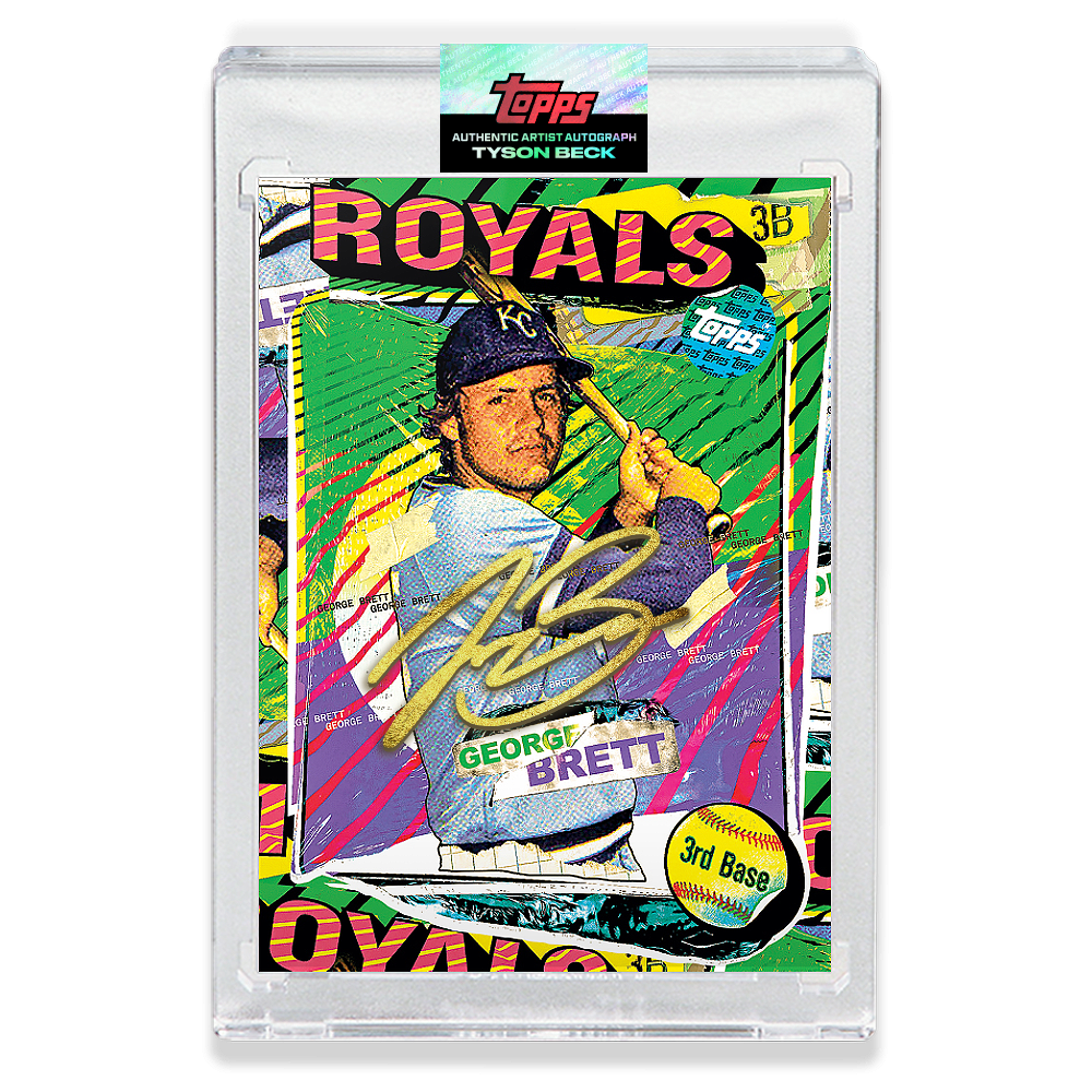 GOLD AUTOGRAPH - Topps PROJECT 2020 Card - George Brett by Tyson Beck - LIMITED TO 5 [PRE-ORDER]