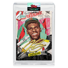 Load image into Gallery viewer, GOLD AUTOGRAPH - Topps PROJECT 2020 Card - Bob Gibson by Tyson Beck - LIMITED TO 5 [PRE-ORDER]