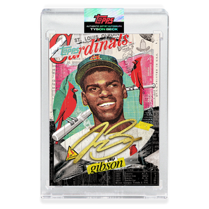 GOLD AUTOGRAPH - Topps PROJECT 2020 Card - Bob Gibson by Tyson Beck - LIMITED TO 5 [PRE-ORDER]