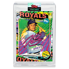 Load image into Gallery viewer, RUBY AUTOGRAPH - Topps PROJECT 2020 Card - George Brett by Tyson Beck - LIMITED TO 20 [PRE-ORDER]
