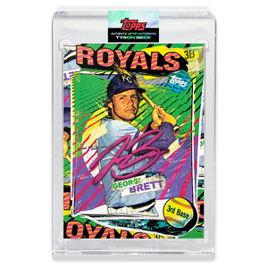 RUBY AUTOGRAPH - Topps PROJECT 2020 Card - George Brett by Tyson Beck - LIMITED TO 20 [PRE-ORDER]