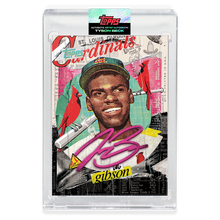 Load image into Gallery viewer, RUBY AUTOGRAPH - Topps PROJECT 2020 Card - Bob Gibson by Tyson Beck - LIMITED TO 20 [PRE-ORDER]