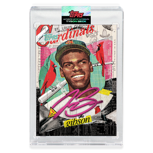 RUBY AUTOGRAPH - Topps PROJECT 2020 Card - Bob Gibson by Tyson Beck - LIMITED TO 20 [PRE-ORDER]