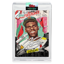 Load image into Gallery viewer, SILVER AUTOGRAPH - Topps PROJECT 2020 Card - Bob Gibson by Tyson Beck - LIMITED TO 75 [PRE-ORDER]