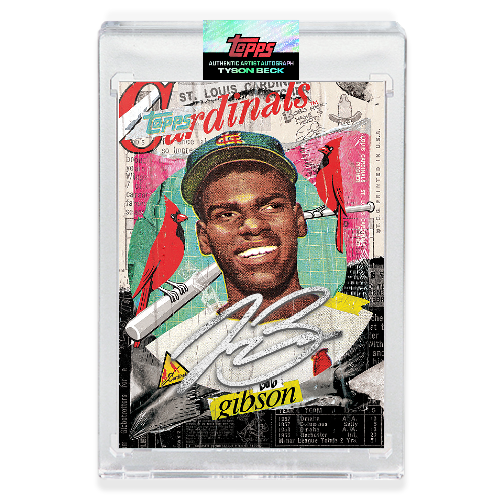 SILVER AUTOGRAPH - Topps PROJECT 2020 Card - Bob Gibson by Tyson Beck - LIMITED TO 75 [PRE-ORDER]