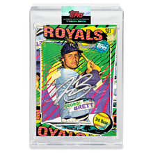 Load image into Gallery viewer, SILVER AUTOGRAPH - Topps PROJECT 2020 Card - George Brett by Tyson Beck - LIMITED TO 75 [PRE-ORDER]