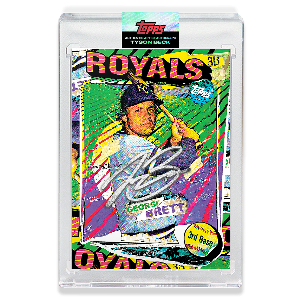 SILVER AUTOGRAPH - Topps PROJECT 2020 Card - George Brett by Tyson Beck - LIMITED TO 75 [PRE-ORDER]