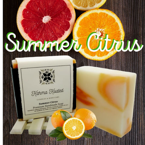 Summer Citrus Soap Bar Soap Bars Karma Koated