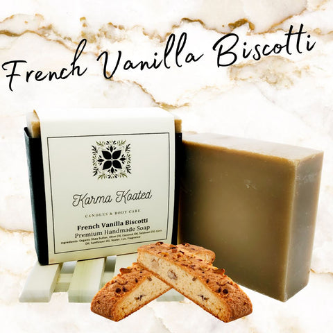 French Vanilla Biscotti Soap Bar Soap Bars Karma Koated