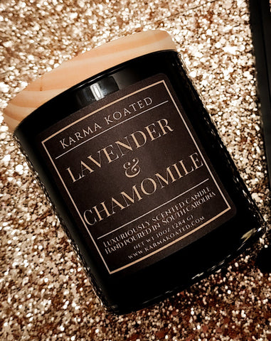 Lavender & Chamomile 2-Wick Candle 10oz Candle Karma Koated