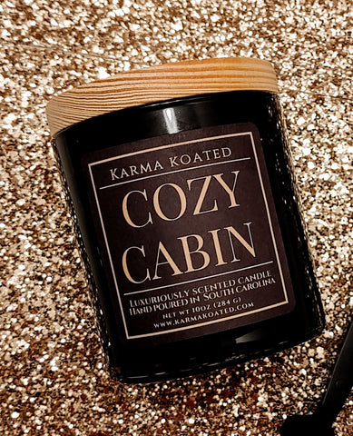 Cozy Cabin 2-Wick Candle 10oz Candle Karma Koated
