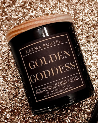 Golden Goddess 2-Wick Candle10oz Candle Karma Koated