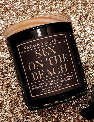 Sex on the Beach 2-Wick Candle 10oz Candle Karma Koated