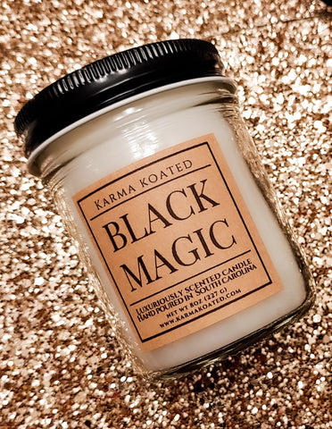Black Magic Single Wick Candle 8oz Candle Karma Koated