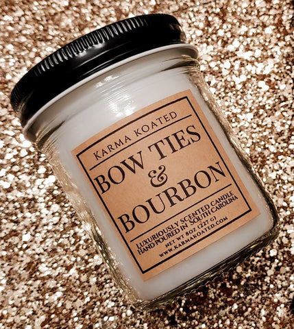 Bow Ties & Bourbon Single-Wick Candle 8oz Candle Karma Koated