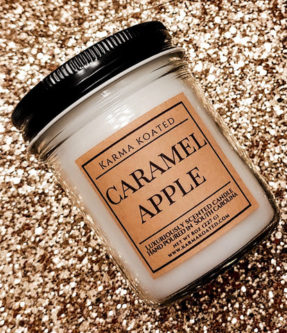 Caramel Apple -Single Wick Candle 8oz Candle Karma Koated