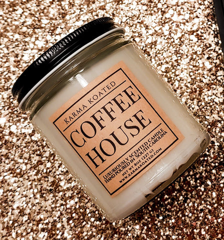 Coffee House Single-Wick Candle 8oz Candle Karma Koated